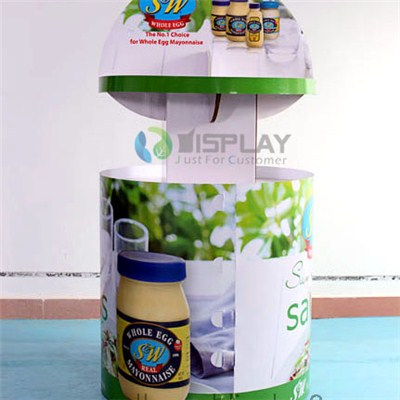 Easily Installation Cardboard Display Bins Box For Hot Sale Food