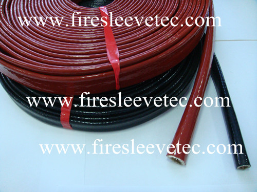 Silicone rubber coated fiberglass sleeve