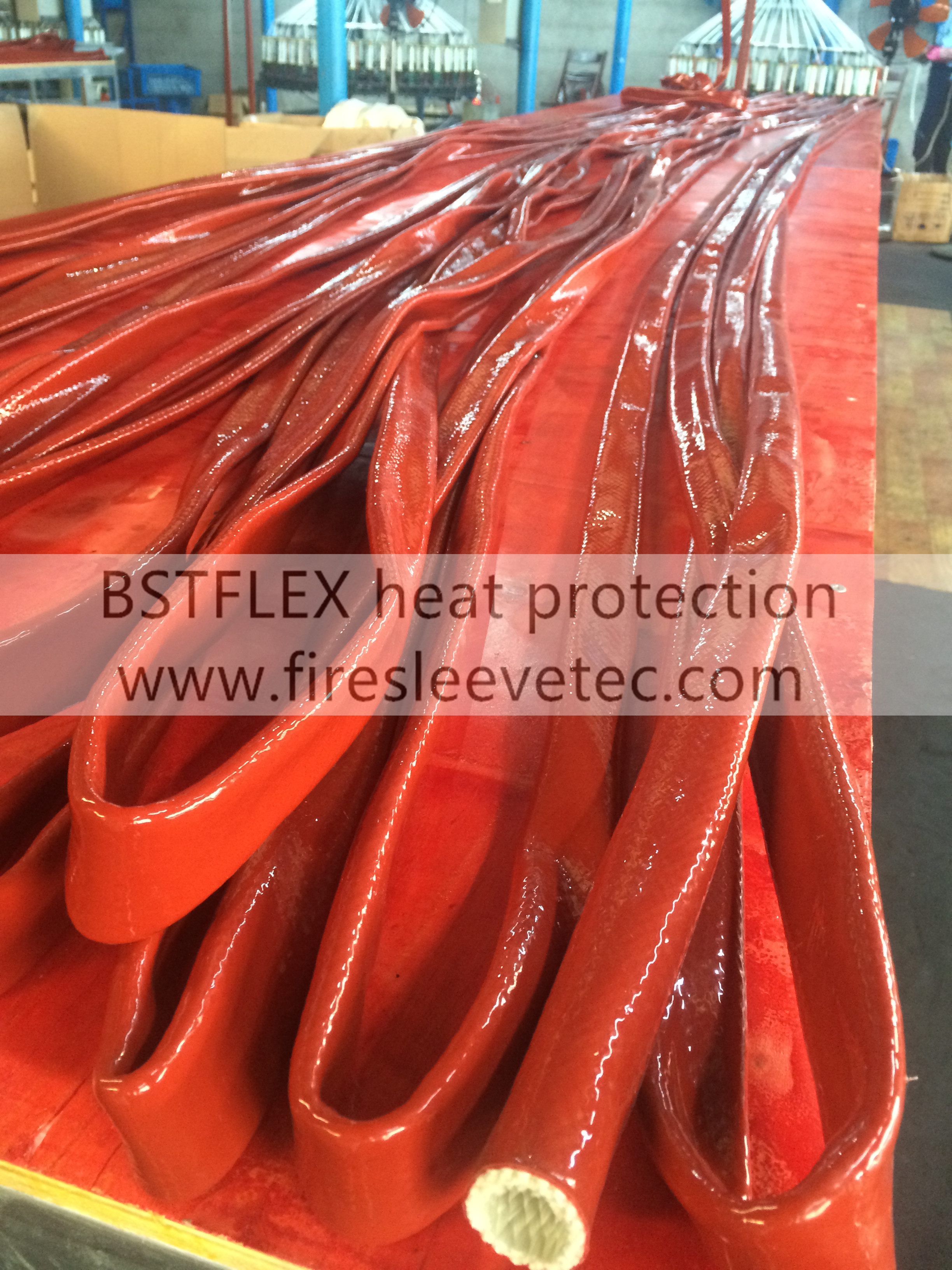 Silicone rubber glass fiber insulation sleeve
