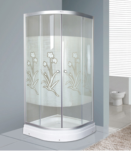 sector 100*100*2000cm  5mm thickness tempered glass shower cabin with competitive prices.