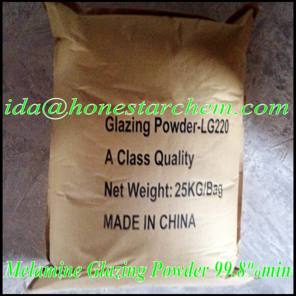 Melamine glazing powder for melamine tableware