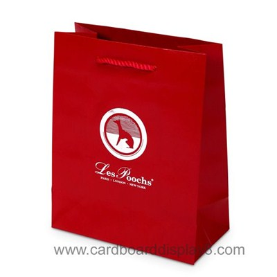 Custom Silver Logo Hot Stamping Recycle Paper Bag Made In China