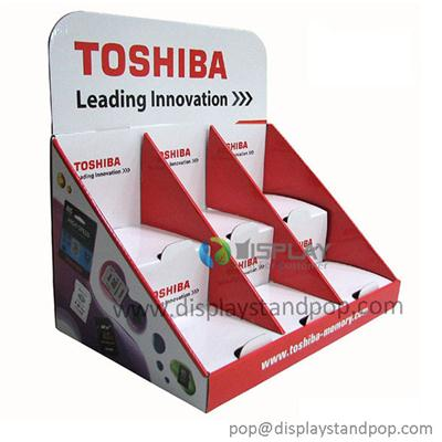 Toshiba Battery Promotional Cardboard Creative Counter Displays With Custom Design