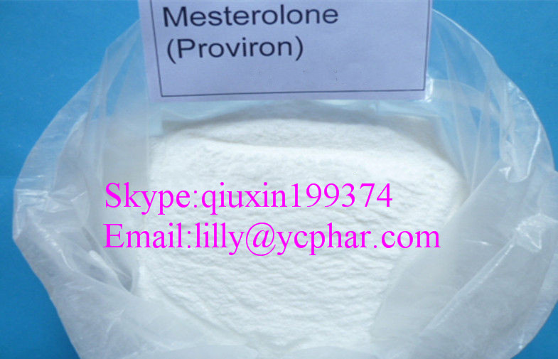 Proviron / Mesterolone Androgen Raw Steroid Powders,DHT Derivative Soluble in Acetone Water CAS 1424-00-6