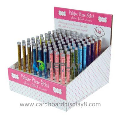 Pen Promotional Counter Displays with Wholes, Point Of Sale Counter Displays