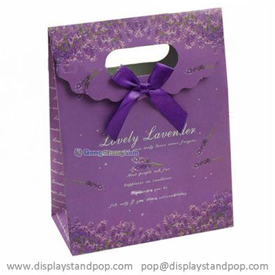 Custom Print Die-cut Handle Luxury Paper Gift Bags