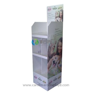High Quality Cheap Cardboard Card Display For Pet Food