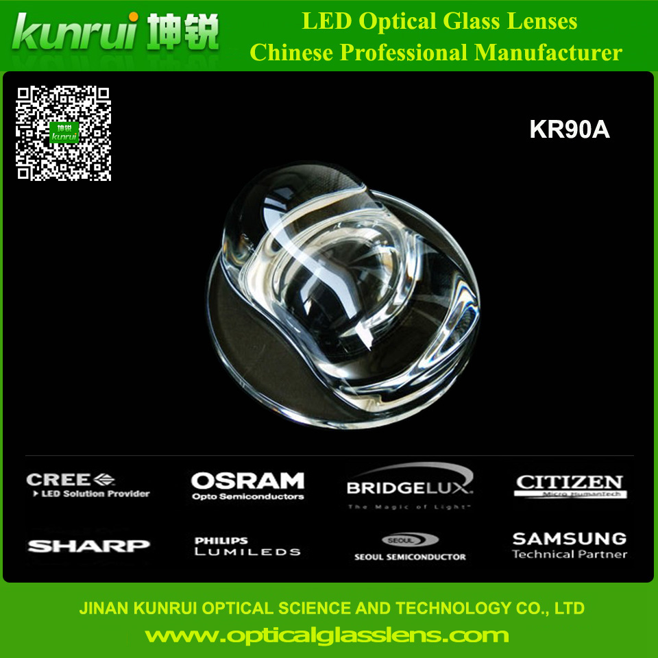 LED Lighting Optical Glass Lens (KR90A)