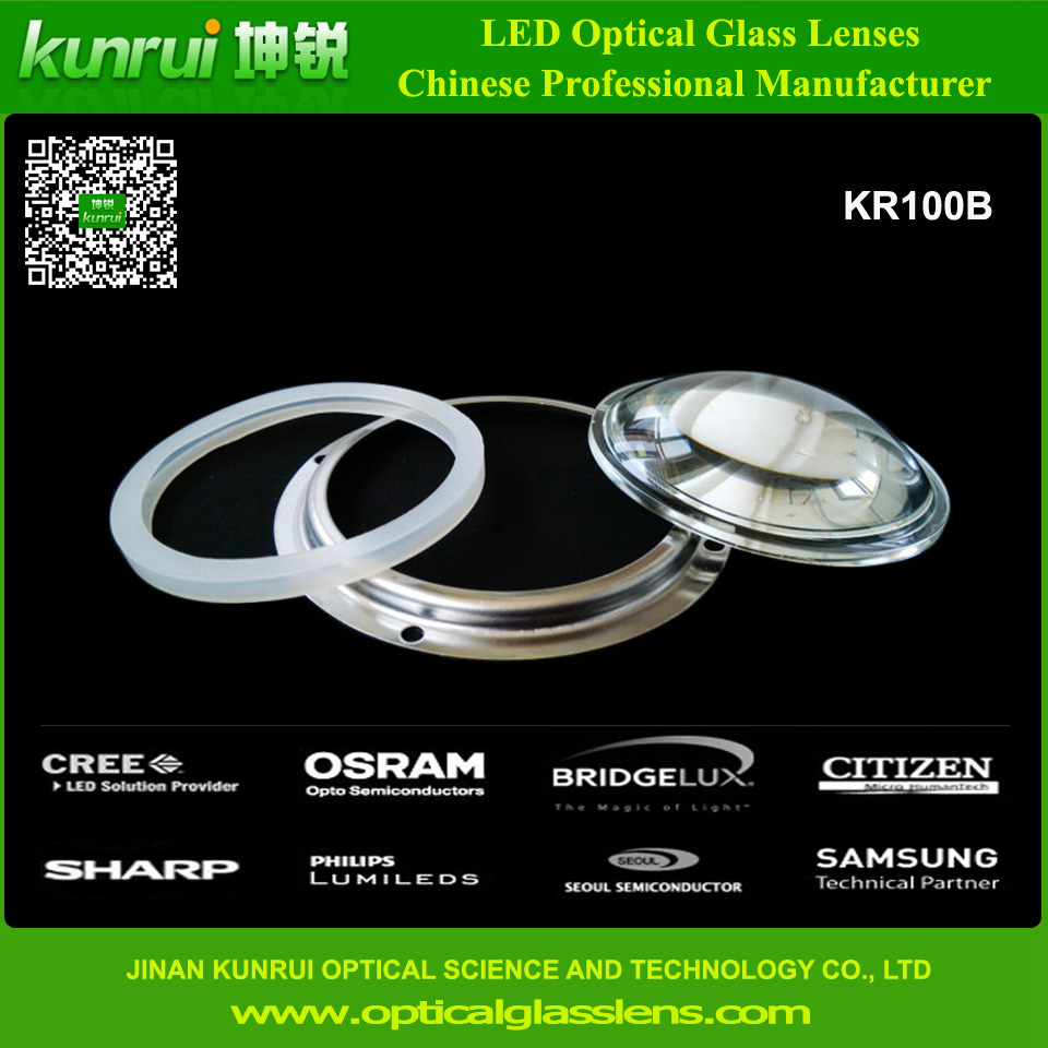 LED Optical Glass Lens for LED Bay Light (KR100B)