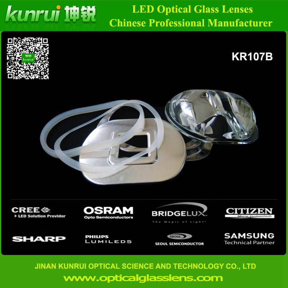 LED Glass Lens for High Power Street Light (KR107B)