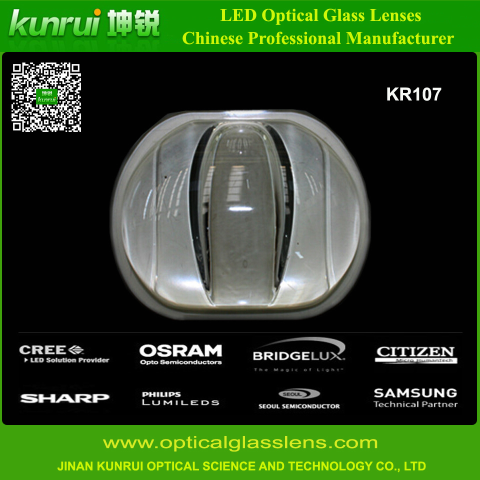 High Power LED Glass Lens for Roadway Lighting (KR107)