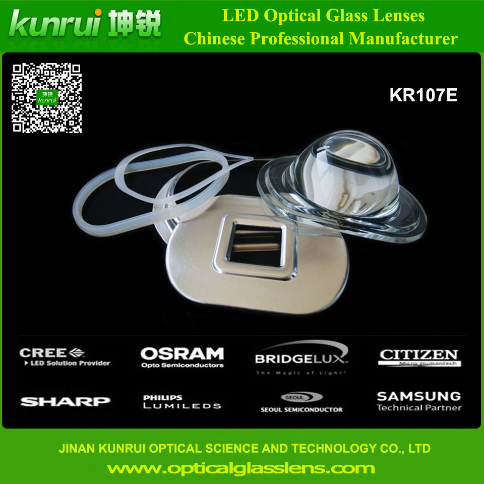LED Optical Glass Lens for Street Light (KR107E)