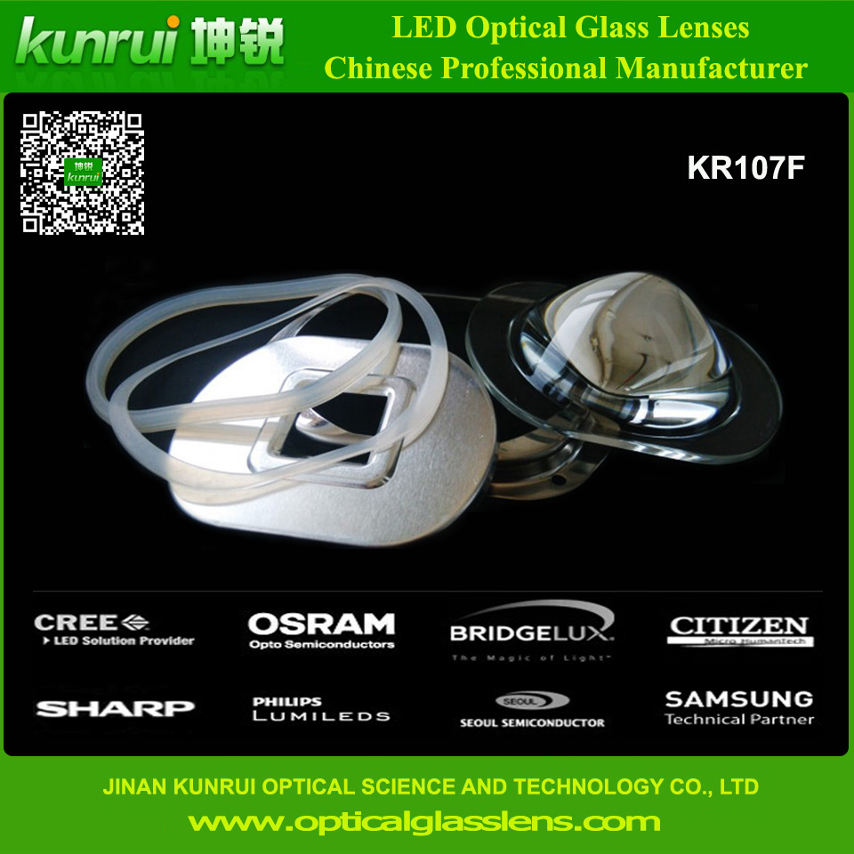 LED Glass Lens for High Power Street Light (KR107F)