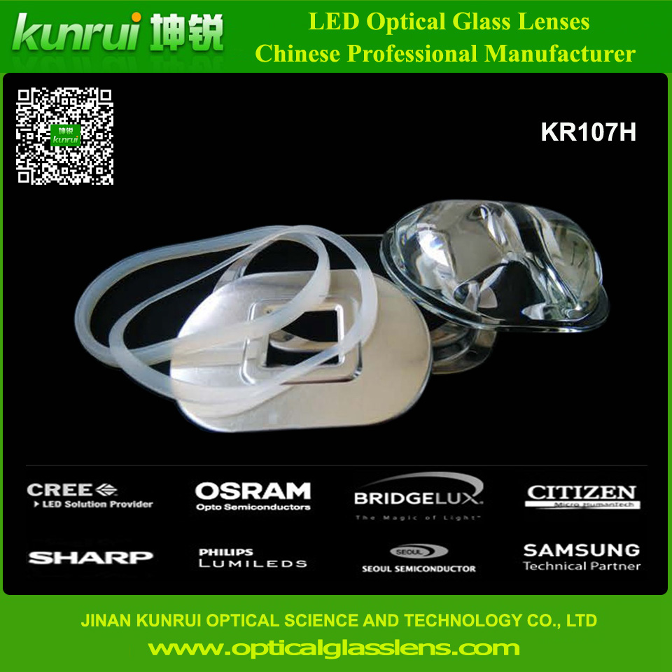 High Power Street Light LED Glass Lens (KR107H)