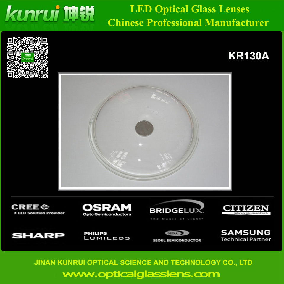 LED Glass Lens for 10W-300W LED High Bay Light (KR130A)