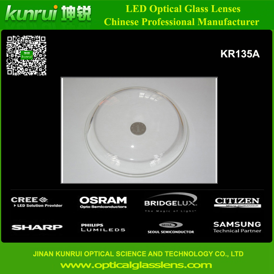 High Quality 135mm Glass Lens for LED High Bay Light (KR135A)