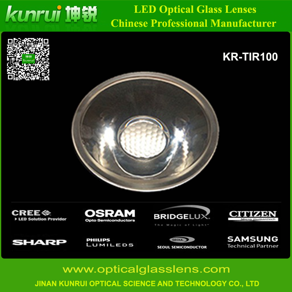 Small Beam Angle Tir Glass Lens for LED Lighting (KR-TIR100)