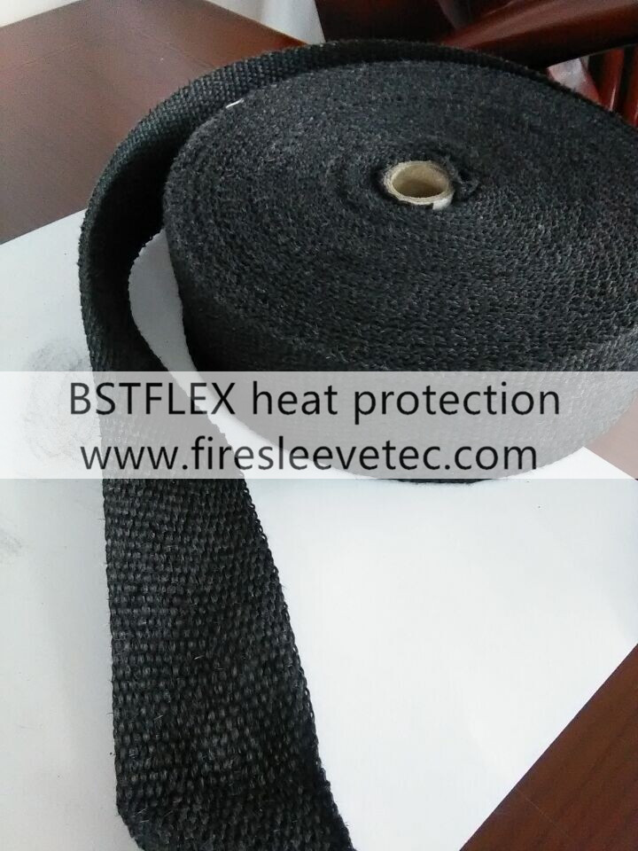 Graphite black exhaust insulation wrap