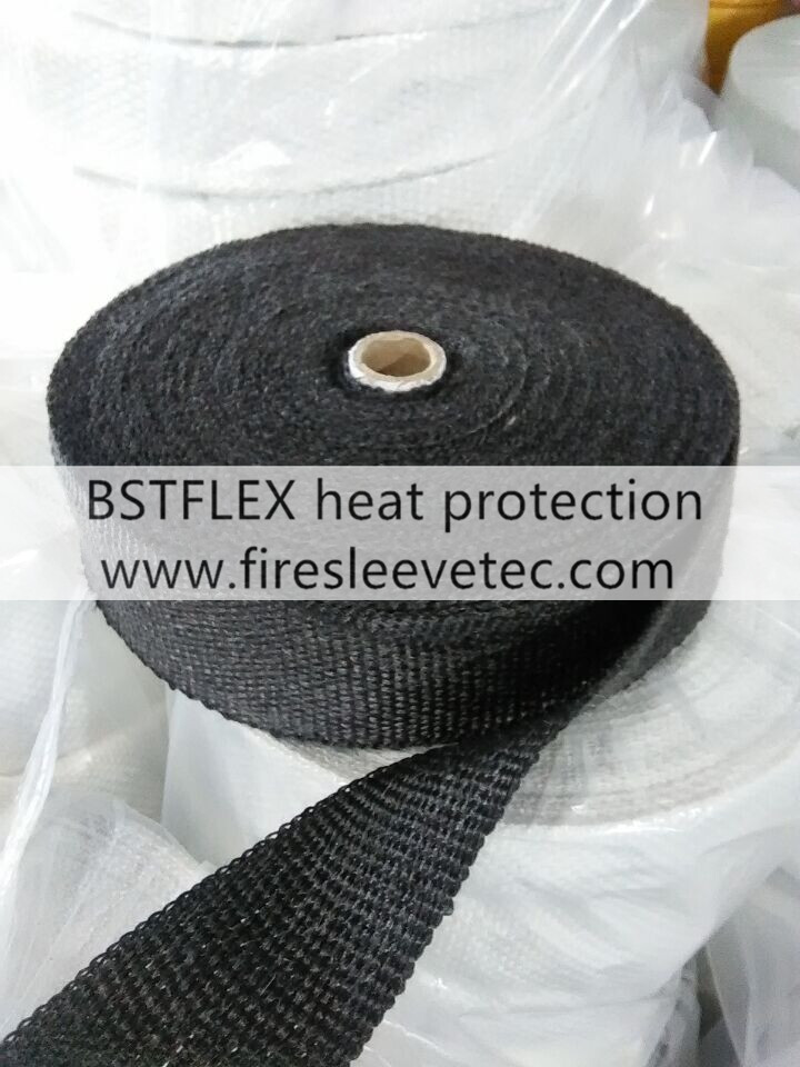 Graphite black fiberglass thermal wrap