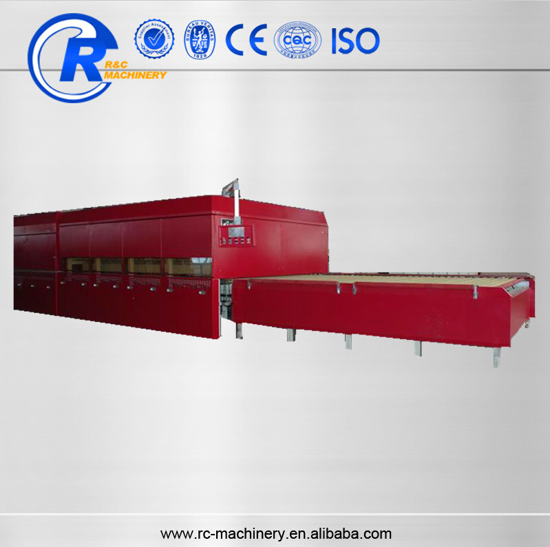 Forced convection type horizontal toughened glass equipment