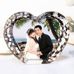 Crystal Heart Shape Photo Frame
