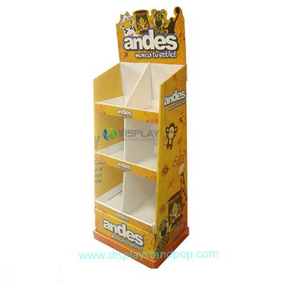 Fashion Exhibition Cardboard Toy Display Shelf For Supermarket