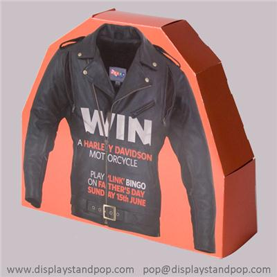 Custom Shape Cardboard Advertising Standees For Clothes