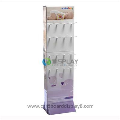 Specialized Production Cardboard Paper Hook Display For Baby Products