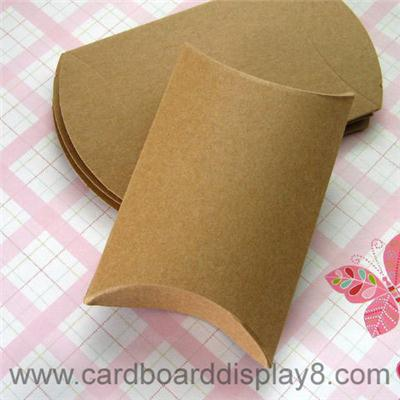 Custom Printed Kraft Paper Pillow Box for Gifts