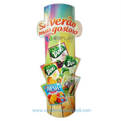 Custom Designed Automatic POP up Cardboard Totem Lama with Vivid Graphics printing