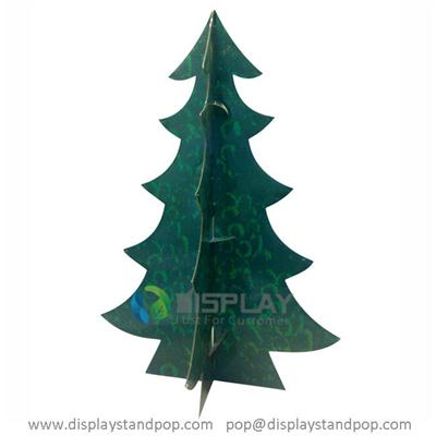 Free Standing Cardboard Christmas Tree with Printing for Gifs Promotion