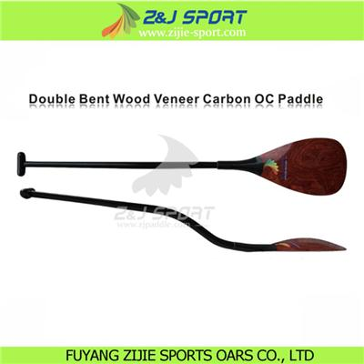 Double Bent Wood Veneer Carbon OC Paddle