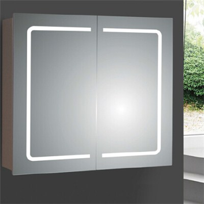 Aluminium Bathroom LED Light Mirror (A-8006)
