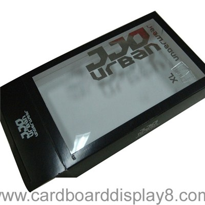 Foldable Paper Packaging Box with a Clear PVC Window