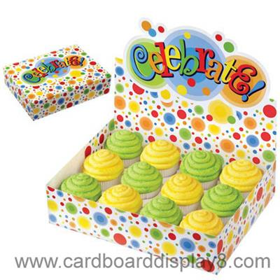 2015 Best Design Cardboard Counter Top Display For Cake