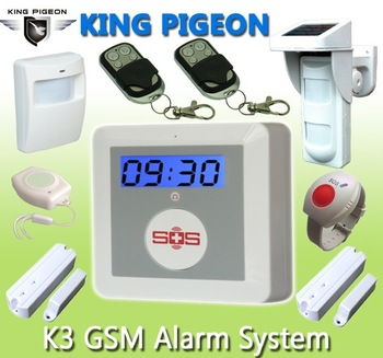 Wireless Home Burglar Security GSM Alarm System with Contact SMS