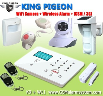 Wireless Home Security GSM SMS 3G Touch Keypad alarm system