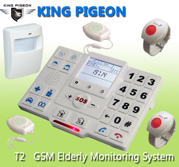Senior Elderly Medical Alarm System Cell Phone (equips fall down alarm pendant)