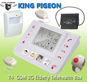 GSM 3G Senior Healthcare with Medical Alert Alarm High Blood SMS Alert