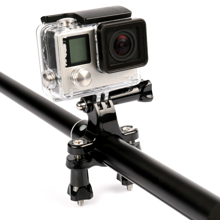 Bicycle bike Handlebar/ Seatpost Clamp with Three-way Adjustable Pivot Arm for Gopro Hero 3/2/1 Digital Camera
