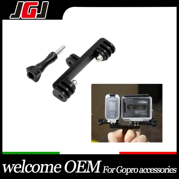 2015 New Dual Mount adaptor for Go pro LED mount adapter Flash LED mount bracket for Gopro Hero4 Hero3 Hero3+