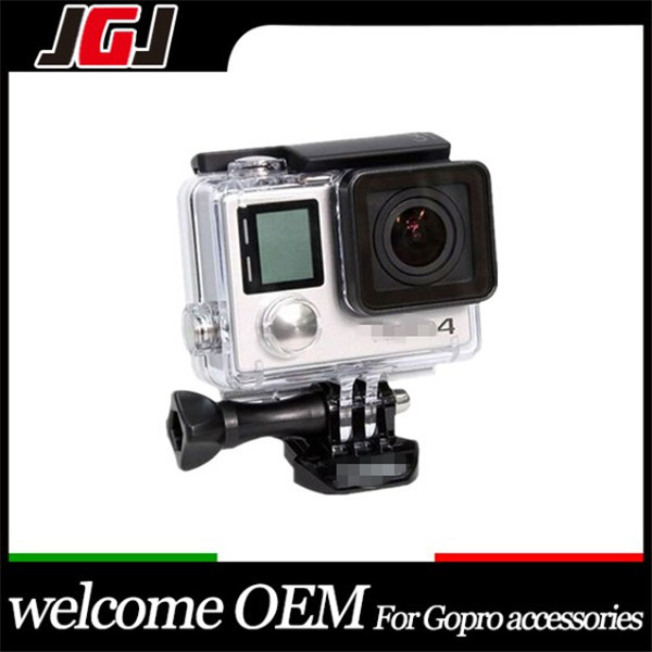 2015 New 4cm LCD Version Waterproof Housing, Case for Go Pro Hero 3+ Hero 4 with LCD Sports Camcorder action camera Accessories