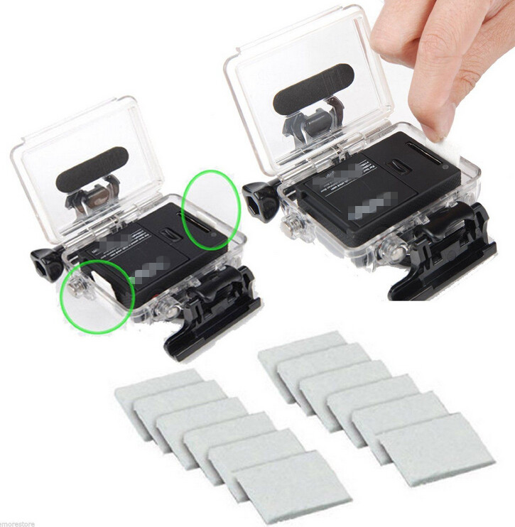 2015 High Quality Diving Surfing Kit Back door Case Floating Grip Anti-fog Insert with tripod adapter for Gopro hero 4 3+ 3
