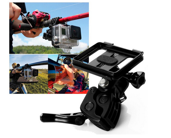 Camera Clamp Mount Set Fixing Clip Mount Kit for Gun / Fishing Rod / Bow Fixing Clip for Gopro Go Pro Hero 4 3+ 3 2 camera