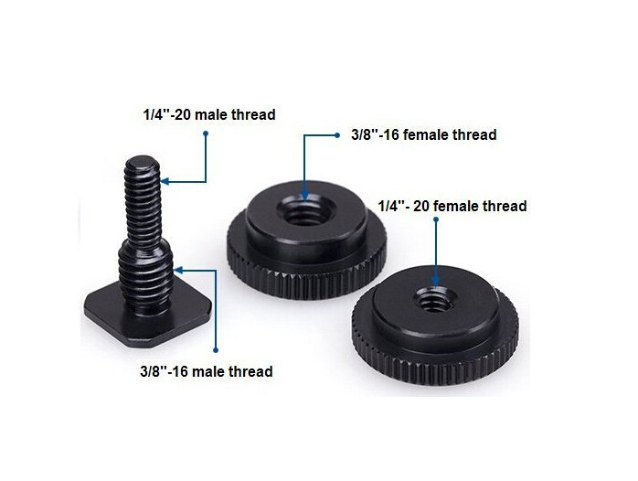 High Quality 1/4-Inch 20 Tripod Screw to Hot Shoe Adapter Tripod Adapter Screw Mount For GoPro Hero 4 3+ 3 2 1 Camera
