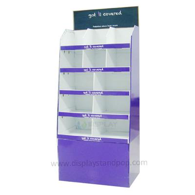 Custom Cardboard Floor Display Stands For Supermarket Promotion