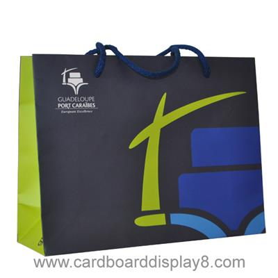 Matte Laminated paper shopping bags with Custom Printing