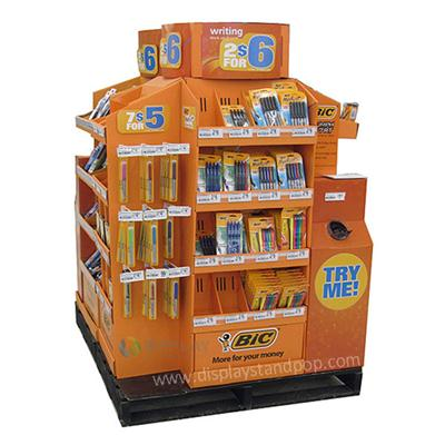 Custom Promotion Bookstore Cardboard Book Displays, Cardboard Merchandise Display