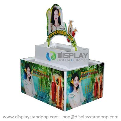 Shampoo Pallet Display Stand, Advertising Cardboard POS Stand with Custom Designs
