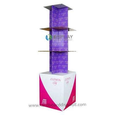 Popular Portable Cardboard Advertising Display For Cosmetics